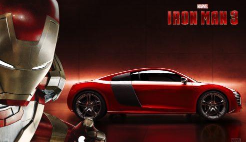 Iron Man inaugure la superbe R8 e-tron