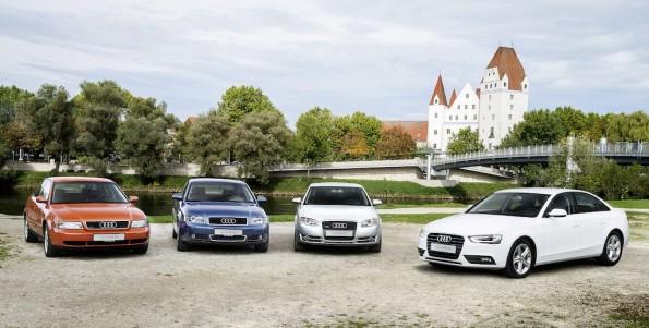 Produktionsjubilaeum in der Audi-Mittelklasse: 20 Jahre Audi A4 am Standort Ingolstadt