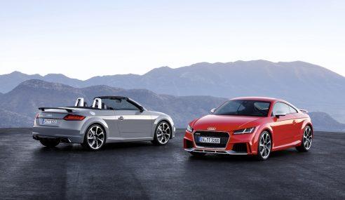 Audi TT RS coupé et roadster : sportivité assumée