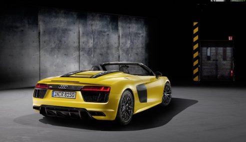 L'Audi R8 enlève le haut