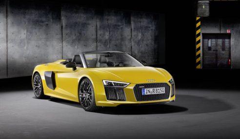 Superbe essai de l'Audi R8 V10 Spyder