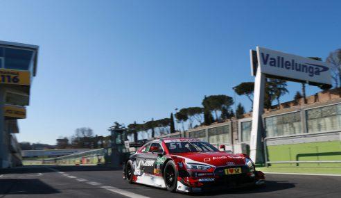 Premiers essais des nouvelles A5 DTM avec les pilotes Audi