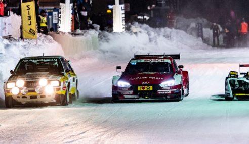 Insolite : les pilotes Audi font le show sur glace en Autriche