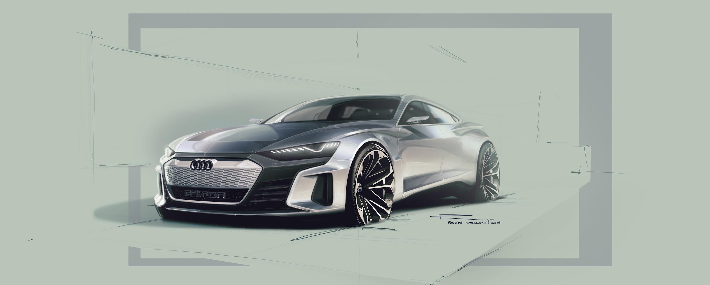Audi e-tron GT concept - Design Sketch