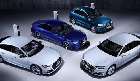 Audi lance l'offensive avec 4 nouveaux modèles hybrides