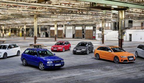 Audi fête le 25ème anniversaire de la gamme RS