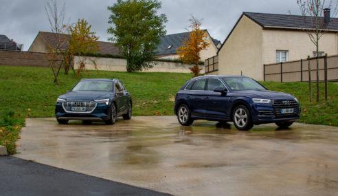 Essai Audi Q5 55 TFSI e quattro et Audi e-tron 55 quattro : un roadtrip électrisant