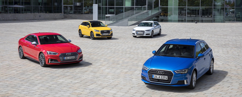 Audi Q2, Audi A3, Audi A4 et Audi S5