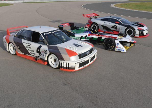 Audi 90 quattro IMSA-GTO, Audi e-tron FE04, Audi e-tron Vision Gran Turismo