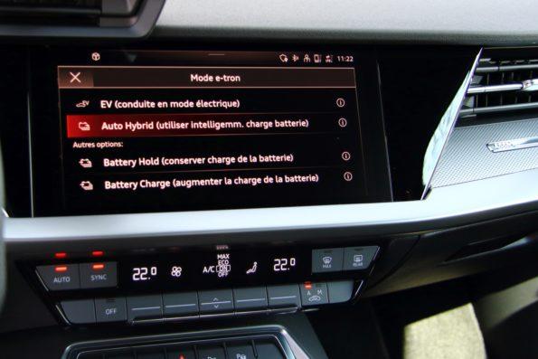 Audi A3 Sportback 40 TFSI e - Modes e-tron