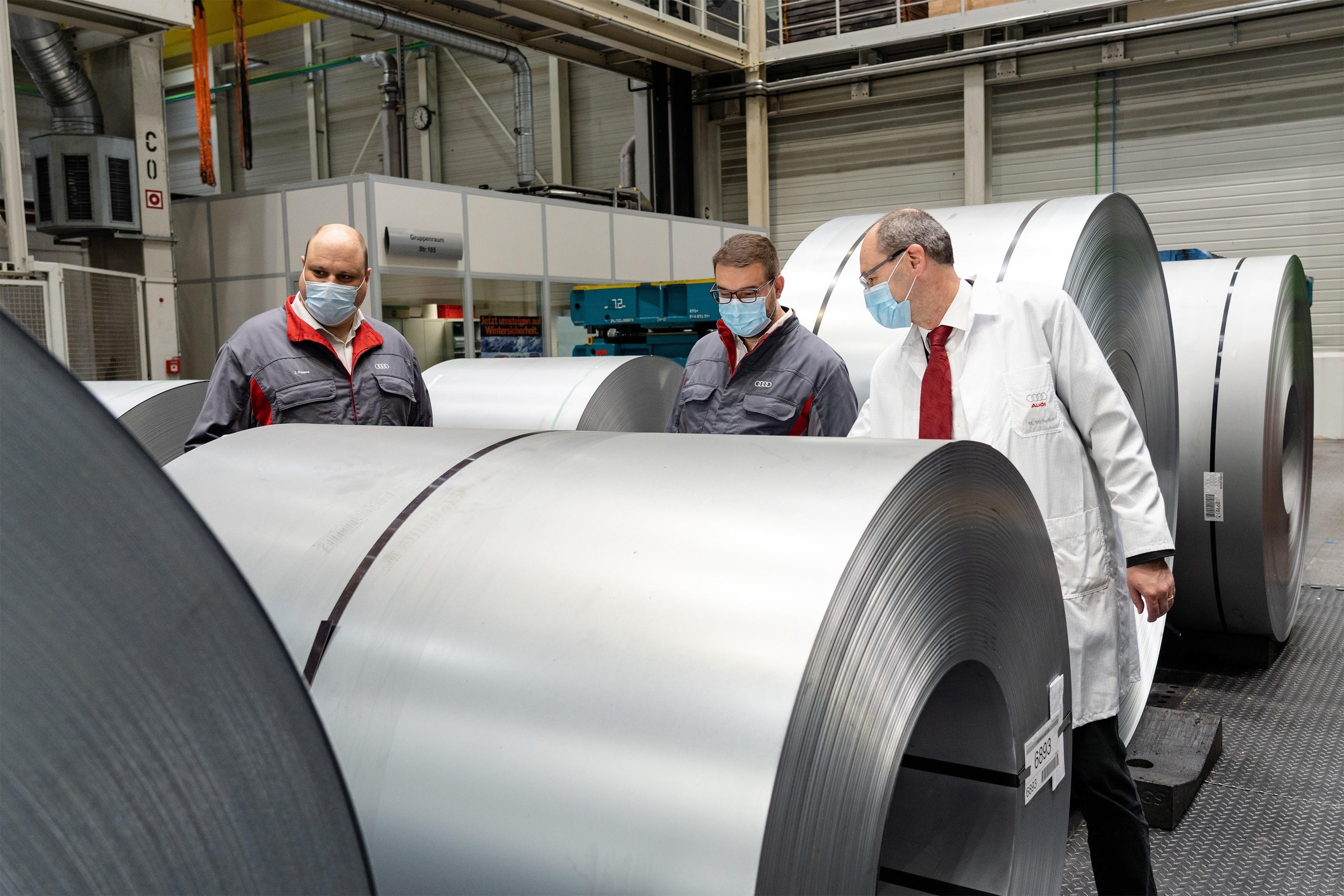 Audi utilise des huiles recyclées dans la fabrication des feuilles d'acier