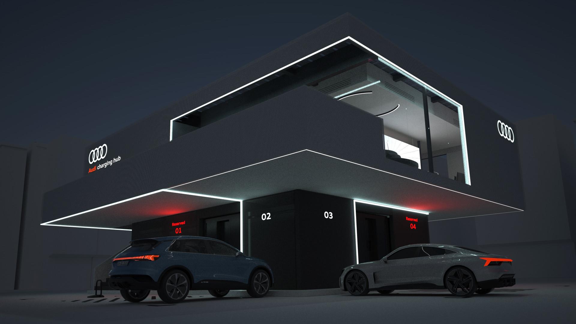 Audi charging hub