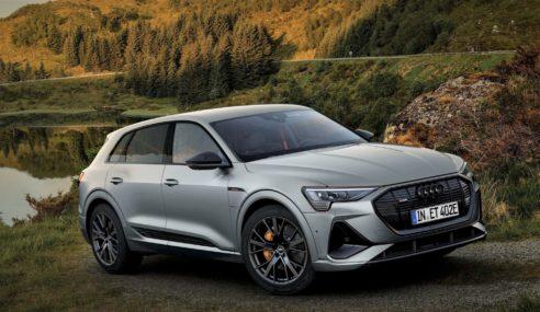 Audi e-tron S line black edition : look sportif