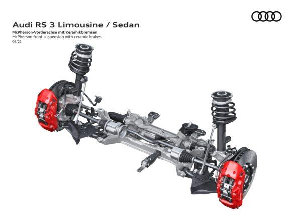 Audi RS 3 Berline - Train avant