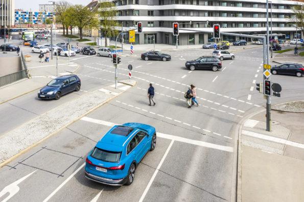 Connexion Audi et feux tricolores