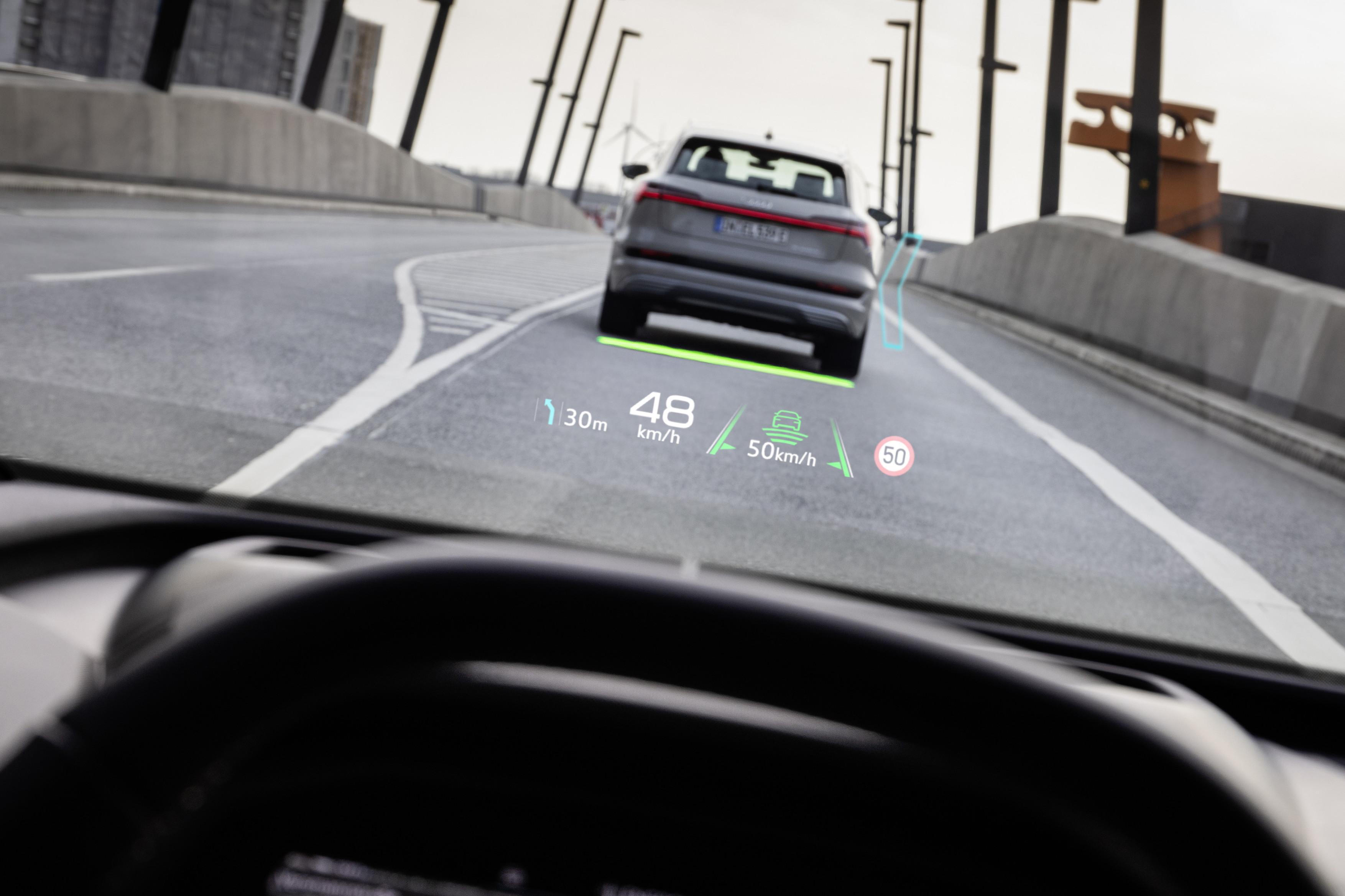 Audi Q4 e-tron - Affichage tête haute