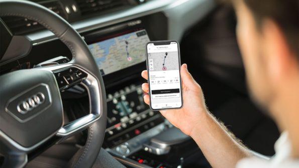 Planificateur d'itinéraire Audi e-tron