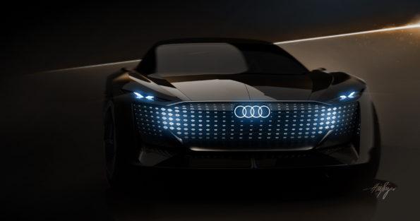 Audi skysphere concept - Signature lumineuse