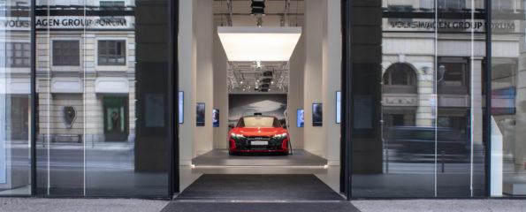 Audi brand exhibition at DRIVE. Volkswagen Group Forum
