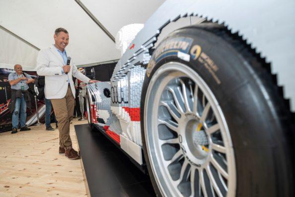 Audi R18 e-tron quattro en Lego